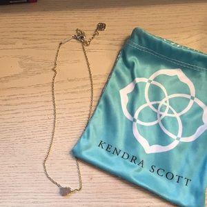 Kendra Scott Pale pink druzy necklace